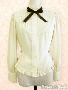 Innocent World Rose Lace Pintuck Blouse