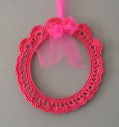 cadre crochet Chou D'iris
