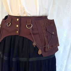Womens utility belt  brown utility belt  by bluemoonkatherine