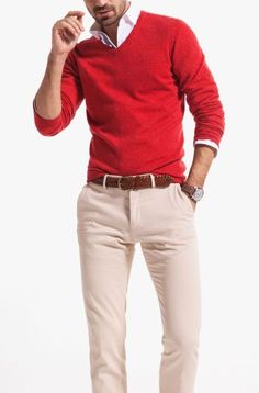 Rote Pullover Outfit, Stylish Men, Men Casual, Traje Casual, Style Masculin, Business Mode, Mens Fashion Sweaters, Look Man, Herren Outfit