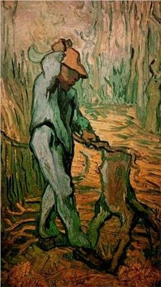 awesome pics: Vincent van Gogh: The Woodcutter (after Millet). Oil on canvas. Saint-Remy: February, 1890. Amsterdam: Van Gogh Museum.