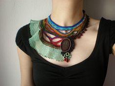Costazia Costazi ... Freeform Crochet Necklace by irregular expressions, via Flickr
