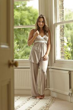 Radiance by MamaMoosh - Camisole Pyjamas in Mink (Maternity / Breastfeeding)