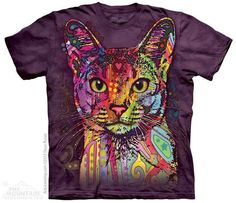 The Mountain T-Shirt Russo Kunst Abessinier edle Katze tolle Farben S - 5XL