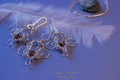 Handmade Silver Plated Wire Set by NikolettKissJewelry on Etsy Wire Jewelry, Unique Jewelry, Crystal Drop, Handmade Silver, Jasper, Silver Plate, Glass Beads, Pearls, Chain