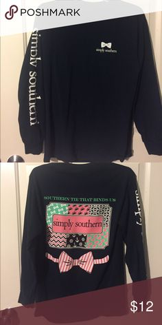 Simply southern long sleeve Never worn Simply Southern Tops Tees - Long Sleeve