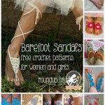 Crochet sandalias descalzas para el verano: 10 patrones libres