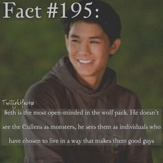 I love Seth and if I didn't have Edward or Jacob then I'll take Seth