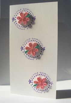 Pink flowers #quilled #card #handmade