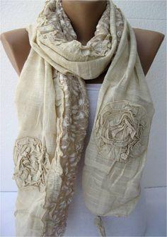 SALE  990 USD-Elegant scarf  Fashion scarf  scarves  by MebaDesign