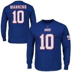 NFL '47 Brand New York Giants Homefield Henley Long Sleeve T-Shirt ...
