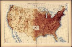 1890 U.S. Population Density Map - Click to learn more about how to get around the missing 1890 census.