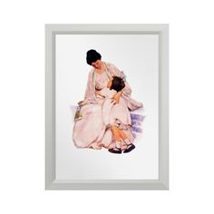 """Mother's Day / Any Occasion Gift Fine Art Small Art Print. """"Motherhood"""", Vintage magazine illustration, circa 1905. Artist: Jessie Willcox Smith. Matching cards, postage stamps , envelope and other products available in the Holidays / Mother's Day Category of the oldandclassic store at zazzle.com ."""