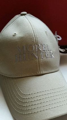 Morel Mushroom Hunter Baseball Cap Hat Embroidered New  BrandedApparel   BaseballCap Baseball Hats 6de3329ed4b2