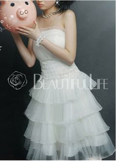 Cute Strapless Multi Layer Satin Mini Wedding Dress on sale, a perfect Mini Wedding Dresses with high quality and nice design. Buy it now or discover your Mini Wedding Dresses Mini Wedding Dresses, Prom Dresses, Formal Dresses, Coat Dress, Bridal Style, Coats For Women, Bridal Gowns, Wedding Planning, Wedding Ideas