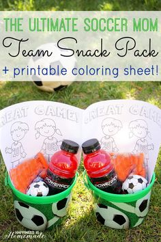 The Ultimate Soccer Team Snack + Printable - Happiness is Homemade #SidelineHero #ad