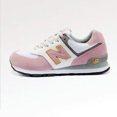 brand new 91ef6 0e19e 2013 New Balance zapatos NB zapatos de tendencia 574 NB zapatillas rosa  blanca Zapatillas Adidas,
