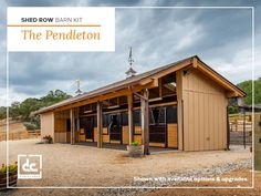 DC Structures Pendleton is our most affordable and space conscious way to store your horses.