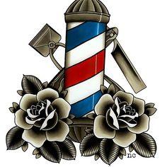Barber's Life Art Print by napiks - X-Small Barber Poster, Barber Logo, Barber Shop Interior, Barber Shop Decor, Logo Barbier, Barber Quotes, Hairstylist Tattoos, Barber Shop Pole, Barber Tattoo