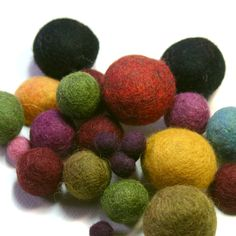 """Beaducation.com online video class """"FREE: Felted Beads"""" with Gail Crosman Moore...REMINDER TO SELF...use to make acorns..."""