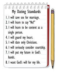 christian dating rule