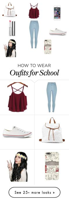 """Back to school"" by holli-101 on Polyvore featuring River Island, Converse, Char..."