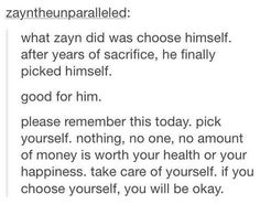I'm proud of Zayn. I don't hate him for leaving, I could never hate someone who means so much to me.