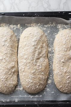 Recipe Homemade bread: Basic bread dough (quick and simple) Pizza Recipes, Bread Recipes, Cooking Recipes, Ciabatta, Pan Indio, Focaccia Pizza, Biscotti, My Favorite Food, Italian Recipes