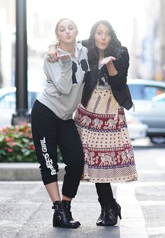 EXCLUSIVE COVERAGE Chloe Lukasiak poses with Stacy Igel while visiting Stacy Igel at Boy Meets Girl on October 16 2015 in New York City
