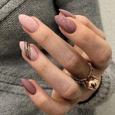 Neutral Nails, Nude Nails, Pink Nails, Neutral Nail Designs, Classy Nail Designs, Oval Nail Designs, Newest Nail Designs, Easy Nail Art Designs, Glitter Nails