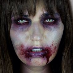 SnapWidget | BOO!! My 1st Halloween tutorial is now up! The Walking Dead Zombie inspired. See the full look on youtube.com/MissChievous #halloween #thewalkingdead