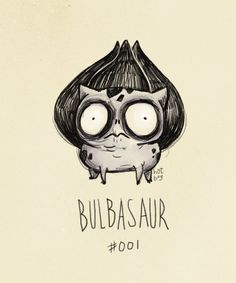 Bulbasaur: Tim Burton Style