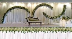 Post FeedsTired of search and search? Here we have this late White Wedding Stage Decoration to guide you in every date. surely you never thought to fi. Simple Stage Decorations, Wedding Room Decorations, Marriage Decoration, Flower Decorations, Engagement Decorations, Wedding Stage Design, Wedding Reception Backdrop, Wedding Backdrops, Wedding Table