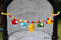 Crochet Super Mario stroller toy