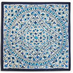 Khayameya: Lotus wall hanging 110 * 110 cm - cotton face, linen back