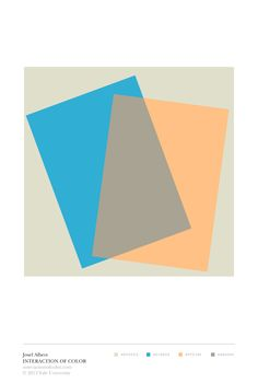 """Josef Albers' Interaction of Color: """"color mixture in paper"""" color study"""