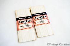 Vintage White Twill Tape Boiltex Trim