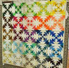 Improvisational Pineapple Quilt by Heather Jones