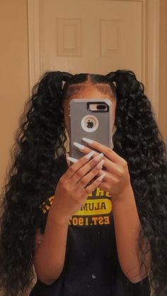 Hair Ponytail Styles, Weave Ponytail Hairstyles, Braids Hairstyles Pictures, Black Girl Braided Hairstyles, Baddie Hairstyles, Black Women Hairstyles, Curly Hair Styles, Natural Hair Styles, Dyed Natural Hair