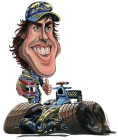 """Képtalálat a következőre: """"caricaturas de pilotos f1"""""""