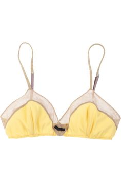 tulle-trimmed silk-blend bra by phillip lim