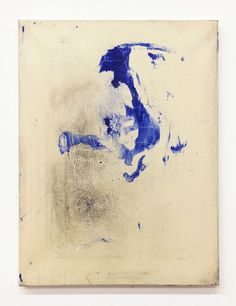 tiziano martini untitled, 2012, acrylic paint, graphite and watery resin-solution on cotton, cm 40x30