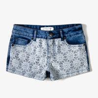 cute lace and jean shorts!