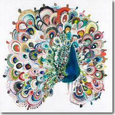 """Peacock White"" by Starla Michelle"