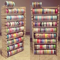 Time to DIY — Creative way to store your washi. This craft uses...