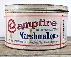 Nice Vintage Campfire Marshmallows Large 10x6 by upscaleyardsale