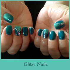 Green Zippy's :Calgel Emerald City with Gecko Green Be creative Pigment