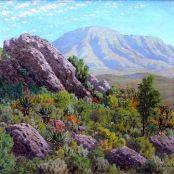 """The Langenbergen"" by Jan Ernst Abraham Volschenk Land Surveyors, Jungle Scene, South African Art, African Artists, Masters, Art Gallery, Landscape, Drawings, Painting"