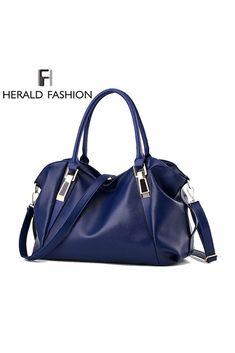 53b51f986160 Herald Fashion Designer Women Handbag Female PU Leather Bags Handbags  Ladies Portable Shoulder Bag Office Ladies Hobos Bag Totes - Trends E-Shop