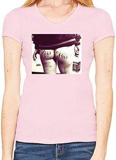 Kiss This Camiseta Cuello en V Mujeres X-Large #camiseta #friki #moda #regalo